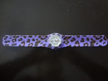 personalized leopard imprnt silicone slap watches,cheap wholesale kids slap watches silicone