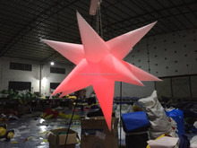 colors-changing inflatable star with LED light in, can controled by remote control, lowest price for sale