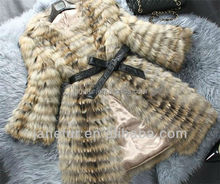 New Arrival/Fahion raccoon fur Coat/Wholesale And Retail