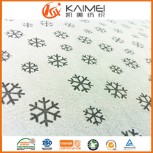 Customized 100% poly car/train/bus seat fabric, decoration fabric short pile velvet with snowflake pattern