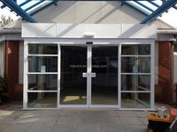 Commercial telescopic automatic sliding doors for suppermarket