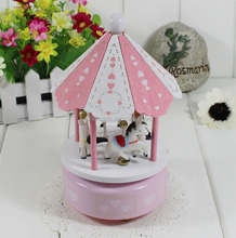 Hot products Popular Fashion Carousel Horse Music Box merry-go-round music box Christmas crafts