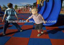 outdoor playground safety rubber flooring