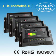 SHS Controller-10 PWM 12V 24V solar charger 10A with CE RoHS