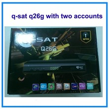 q-sat q26g hd decoder with sim card for avatar account French channels