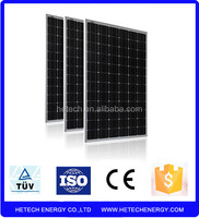 Monocrystalline 315w pv solar panel price from china supplier on alibaba