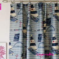 Modern Design Prinited Blackout Curtains- Caribbean printed blackout window curtains
