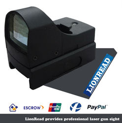 2015 Top-Quality 17x24mm Optics Tactical Outdoor Red dot Laser Sight with 4 red/green reticle patterns