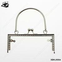 Fashion Metal purse frame hardware accessories for handmade handbag leather bags