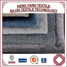 100% Polyester Tricot Brushed Fabric for Sofa Cover, Quilted Microfiber Velboa Fabric