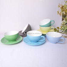 new bone china 9.7oz cup and saucer