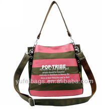 Canvas shoulder long strap book bag
