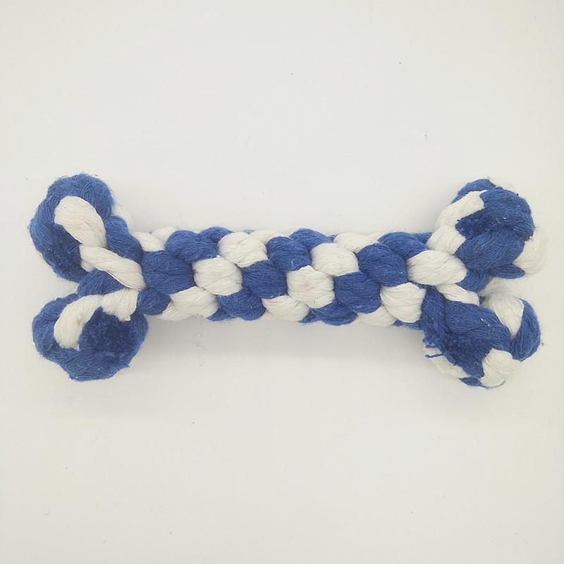 Juguetes para mascotas Knot Rope Dog Chew Toys - Huesos de perro 100% naturales con cuerdas de algodón