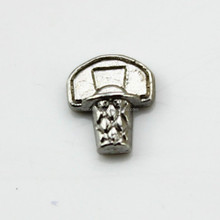 Antique Silver Basketball And Hoop Sports Living Floating Charms