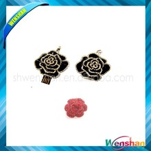 Diamond necklace rose usb flash drive with flower