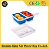 Food grade silicone plastic lunch box with lock