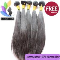 Wholesale good quality virgin brazilian hair provide free sample hair bundles