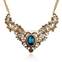 New fashion Lady bib statement pink flower rainbow crystal necklace collar hot