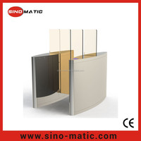 Access control system optical IC/ID reader full height sliding barrier