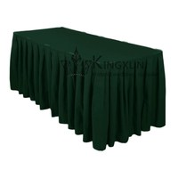 Poly Table Skirt \ Ruffled Table Skirts - Hunter Green Color