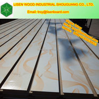 7 slotted melamine mdf board in sale/7 slotted mdf/7 grooved mdf