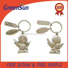 Popular in China factory price custom metal 3d keychain