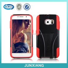 Heavy duty hybrid protector case for samsung galaxy s6 with kickstand