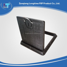 Alibaba china hot sell square composite fiberglass frp smc bmc manhole cover with frame