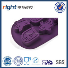 New desing funny silicone 6 penguin ice cube tray