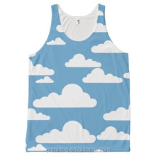 wholesale plain cheap blue and white seamless tank top for no gender