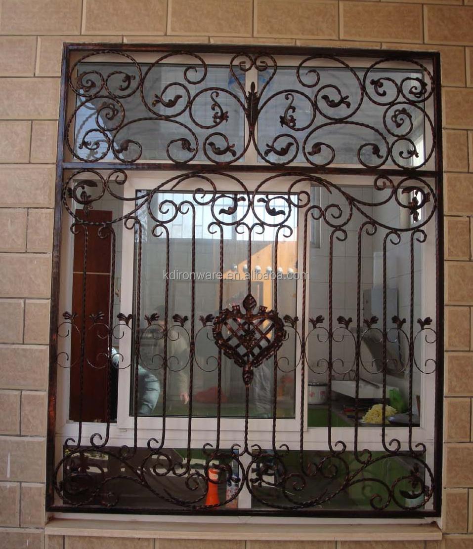 Popular wrought iron decorative window grates buy
