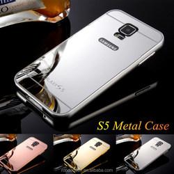 Aluminium case for i9600 mirror metal cover for samsung s5 case