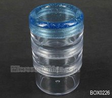 2012 Hot selling kitchen storage box Space-saver jar plastic, clear, 6cm high 3.3cm in diameter sold per set of 3-include one