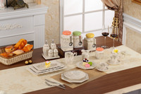 White with golden painting decoration tableware ceramic dinnerware