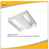 recessed embedded LED troffer light fixtures 38W RA>80