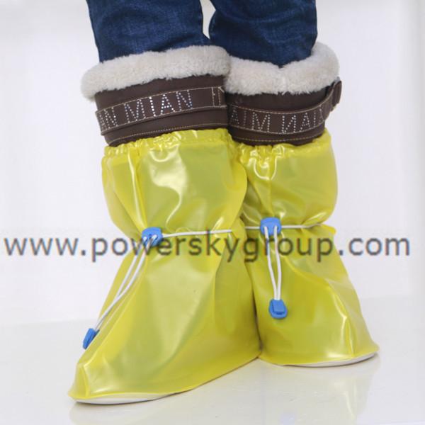 PY602 children flat heel adjustable waterproof shoe covers.JPG