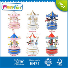 New Products 2015 Gift 6 color Carousel Music Box,Carousel For Sale,Carousel Music Box AT11906