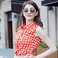 Hjc-c8389 Veri Gude 2015 de verano el último blusa dama de moda casual camisa a cuadros sin mangas