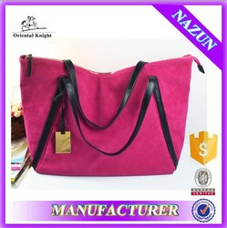trendy pink color tote baby mother bag soft diaper mother bag