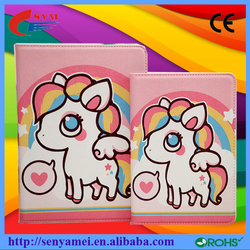 Luxury Cartoon Painting PU Leather wallet case cover stand for Apple iPad Air