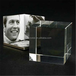 wholesale K9 top quality glass blank crystal cube photo frame