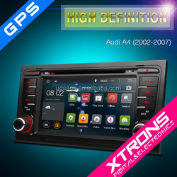 """7"""" Android 4.4.4 OS Multi-touch Screen Car DVD Player With Wireless Screen Mirroring Function & OBD2 For Audi A4"""