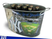Beer bottle cooler holder with logo