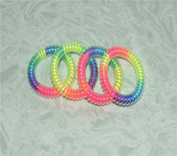 stretchy swirly cute radom color delivery plastic new women telephone line hair elastic ring ties band rope hair device