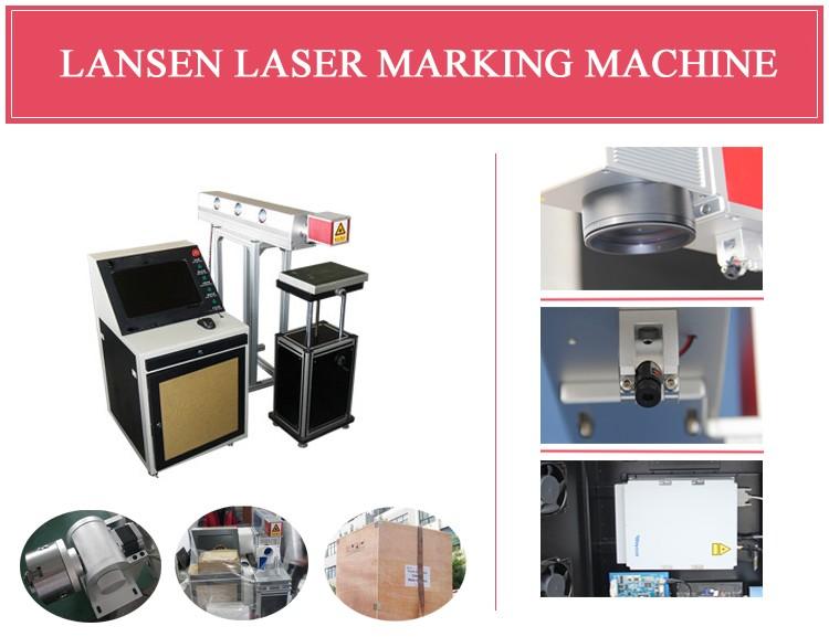 Lansen маркировочная машина CO2 Лазерный <span class=keywords><strong>маркер</strong></span> на клавиатуре Кнопку