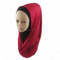 latest design 2015 lady's muslim hood scarf jersey loop instant HIJAB big arabian scarf