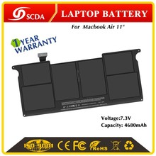 "Hot sale 6 cells li-polymer 4800mAh rechargeable battery for Apple MacBookr Air 11"" A1406 7.3V"