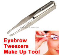 Stainless Steel LED Light Eyebrow Tweezer
