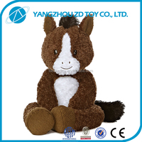 2015 new style lovely CHRISTMAS GIFT wholesale fluffy soft stuffed horse toy