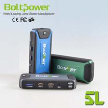 Dual USB outlet high capacity jump starter handy battery pack 12800mAh